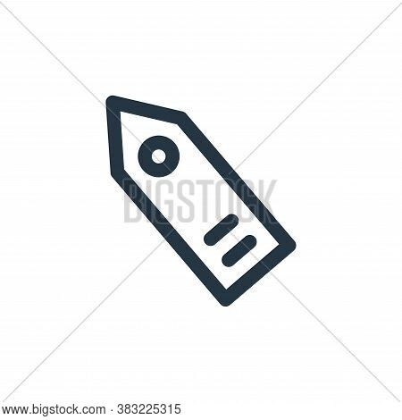 label icon isolated on white background from finance bank collection. label icon trendy and modern l