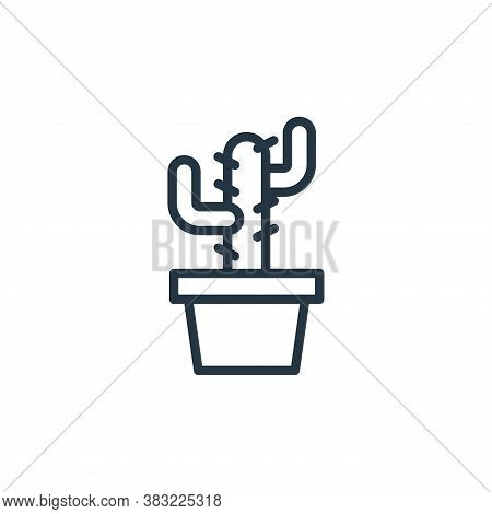 cactus icon isolated on white background from spring collection. cactus icon trendy and modern cactu