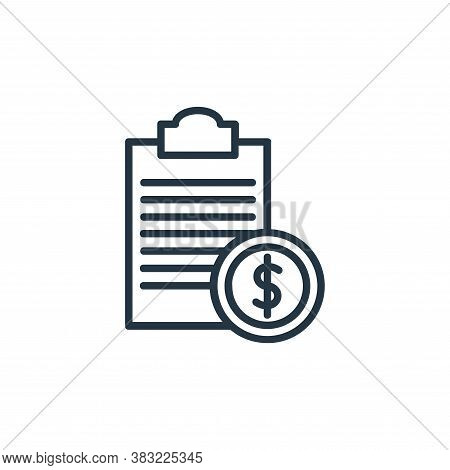cost icon isolated on white background from finance collection. cost icon trendy and modern cost sym