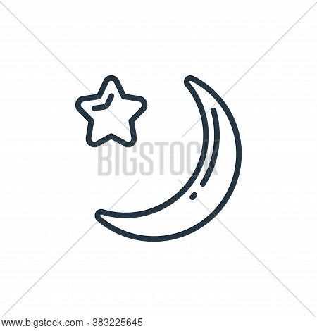 crescent moon icon isolated on white background from ramadan collection. crescent moon icon trendy a