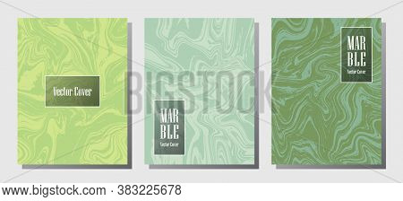 Minimalist Marble Prints, Vector Cover Design Templates. Fluid Marble Stone Texture Iinteriors Fashi