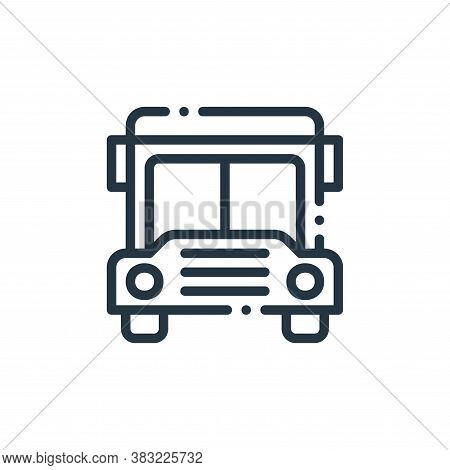 bus icon isolated on white background from travel and adventure collection. bus icon trendy and mode