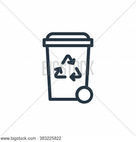 recycle bin icon isolated on white background from ecology line collection. recycle bin icon trendy