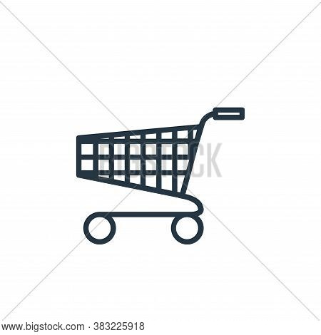 supermarket icon isolated on white background from finance collection. supermarket icon trendy and m