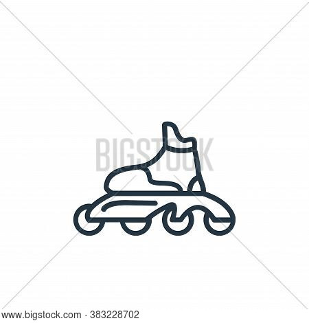 roller skates icon isolated on white background from sport collection. roller skates icon trendy and