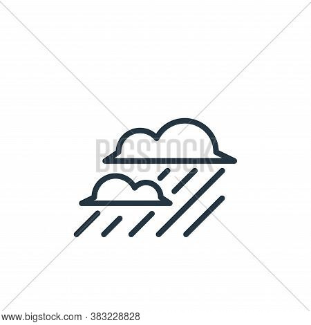 rainy icon isolated on white background from spring collection. rainy icon trendy and modern rainy s
