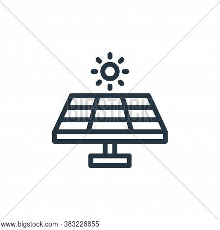 solar panel icon isolated on white background from ecology line collection. solar panel icon trendy