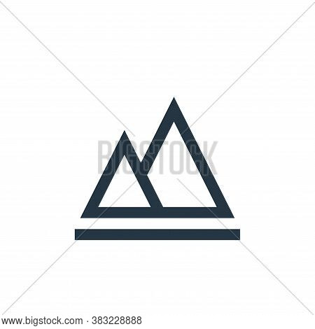 histogram icon isolated on white background from photography collection. histogram icon trendy and m