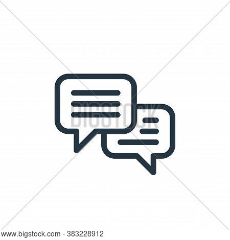 chat icon isolated on white background from ecommerce shopping collection. chat icon trendy and mode