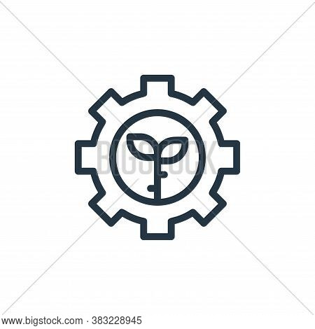 setting icon isolated on white background from ecology line collection. setting icon trendy and mode