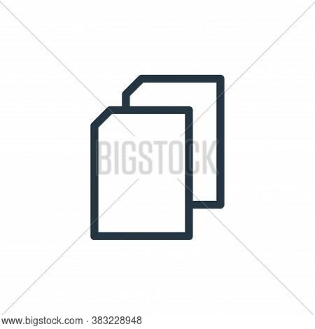 copy icon isolated on white background from marketing and entertainment collection. copy icon trendy