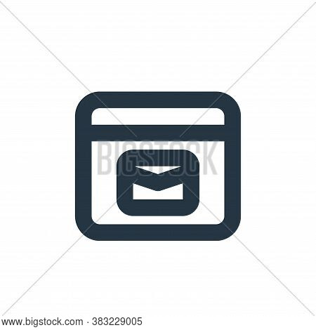 web mail icon isolated on white background from email collection. web mail icon trendy and modern we