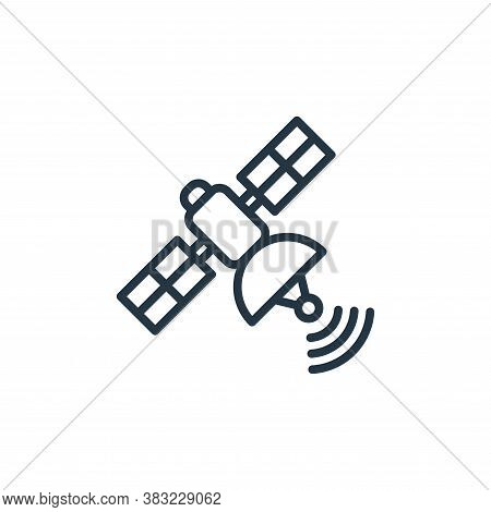 satellite icon isolated on white background from news and journal collection. satellite icon trendy