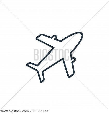 air plane icon isolated on white background from travel collection. air plane icon trendy and modern