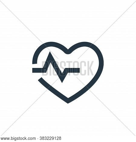heart rate monitor icon isolated on white background from medical collection. heart rate monitor ico