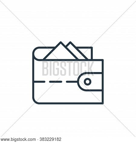 wallet icon isolated on white background from travel collection. wallet icon trendy and modern walle