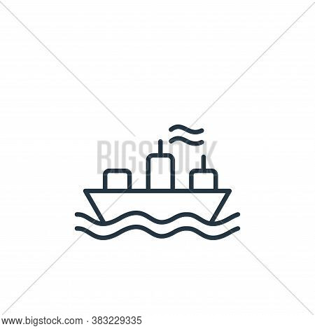 ship icon isolated on white background from oil industry collection. ship icon trendy and modern shi