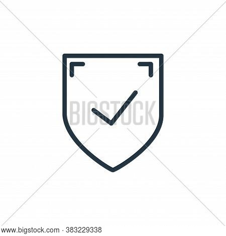 shield icon isolated on white background from shopping and ecomerce collection. shield icon trendy a