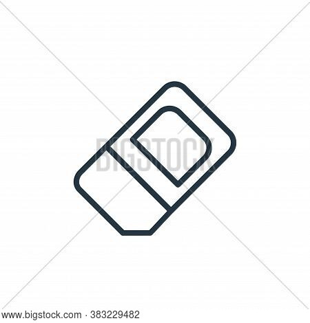 eraser icon isolated on white background from school and education line collection. eraser icon tren