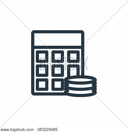 calculator icon isolated on white background from shopping collection. calculator icon trendy and mo