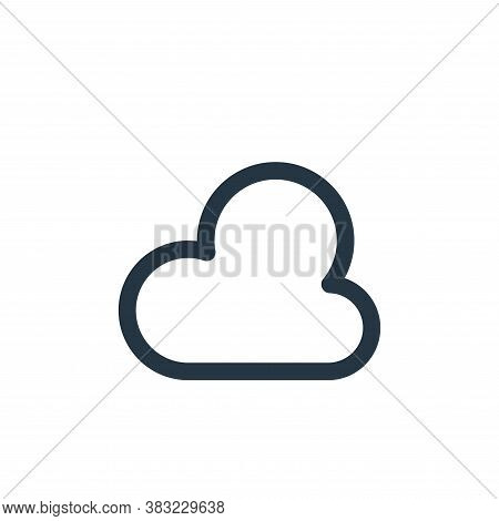 cloud icon isolated on white background from photography collection. cloud icon trendy and modern cl