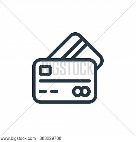 credit card icon isolated on white background from ecommerce shopping collection. credit card icon t