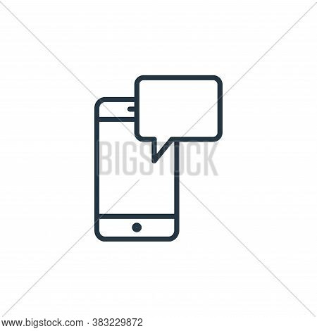 sms icon isolated on white background from smart devices collection. sms icon trendy and modern sms