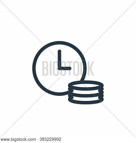 time is money icon isolated on white background from shopping collection. time is money icon trendy