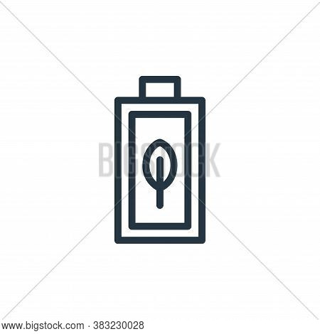 eco battery icon isolated on white background from ecology line collection. eco battery icon trendy