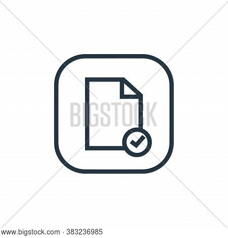 verified icon isolated on white background from files and folders collection. verified icon trendy a