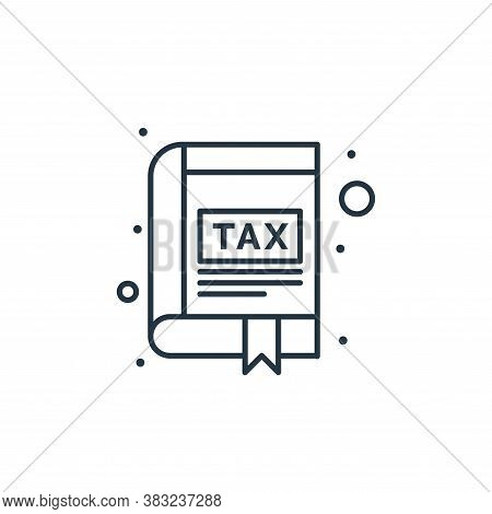 tax icon isolated on white background from taxes collection. tax icon trendy and modern tax symbol f
