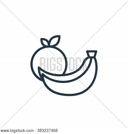 fruit icon isolated on white background from health collection. fruit icon trendy and modern fruit s