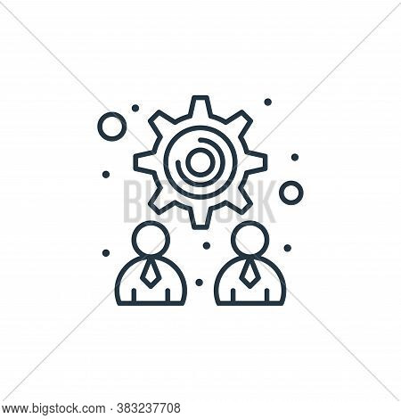 teamwork icon isolated on white background from strategy collection. teamwork icon trendy and modern