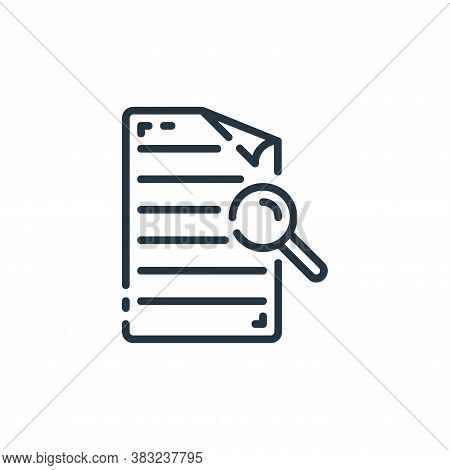 search icon isolated on white background from documents collection. search icon trendy and modern se