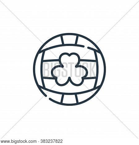 gaelic football icon isolated on white background from ireland collection. gaelic football icon tren