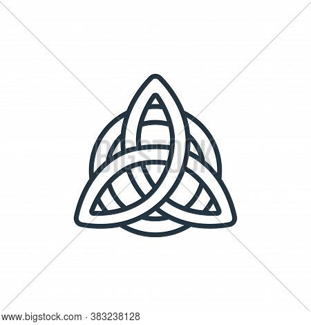 celtic knot icon isolated on white background from ireland collection. celtic knot icon trendy and m
