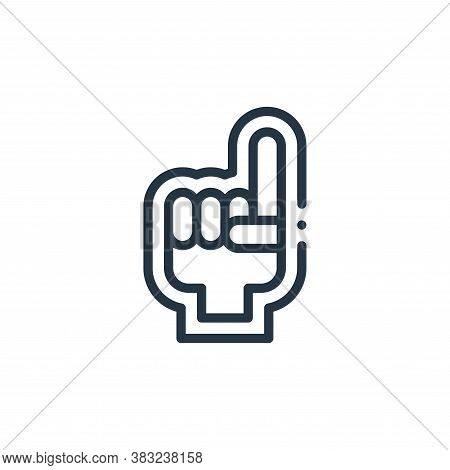 foam hand icon isolated on white background from american football collection. foam hand icon trendy