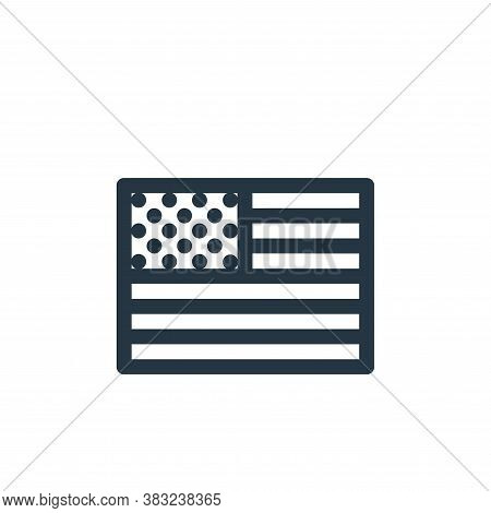 usa icon isolated on white background from american football collection. usa icon trendy and modern