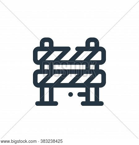 road barrier icon isolated on white background from labour day collection. road barrier icon trendy
