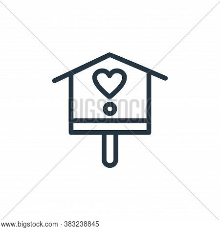 bird house icon isolated on white background from spring collection. bird house icon trendy and mode