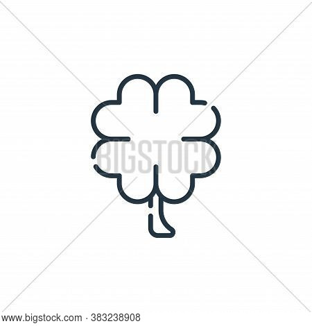 clover icon isolated on white background from spring collection. clover icon trendy and modern clove
