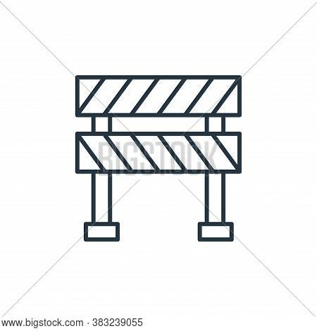 road block icon isolated on white background from racing collection. road block icon trendy and mode