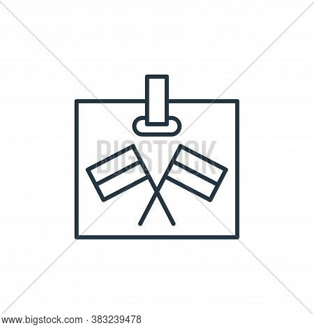 tag icon isolated on white background from racing collection. tag icon trendy and modern tag symbol