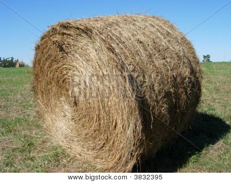 Round Hay Bail Close