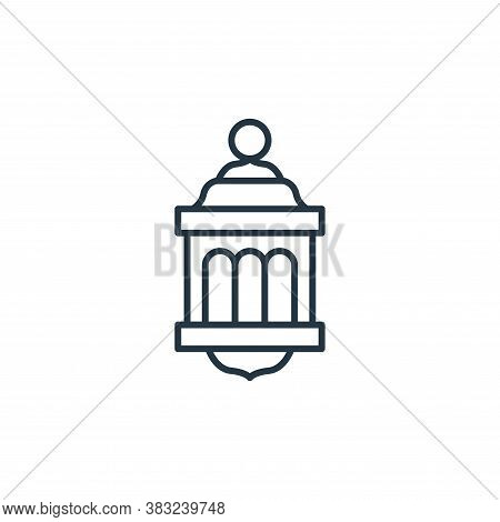 lantern icon isolated on white background from antique collection. lantern icon trendy and modern la