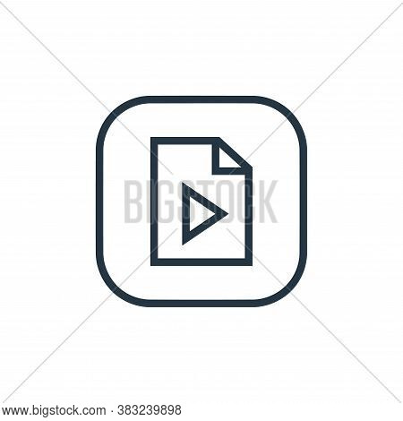 video file icon isolated on white background from files and folders collection. video file icon tren