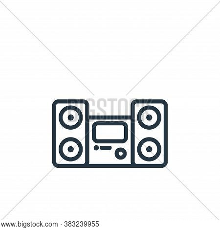 speaker icon isolated on white background from electronic devices outline collection. speaker icon t