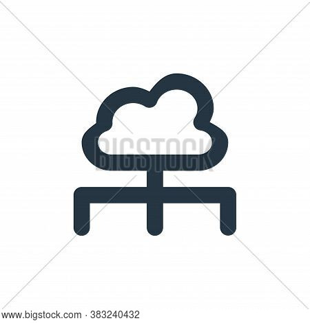 cloud server icon isolated on white background from px network and communication collection. cloud s