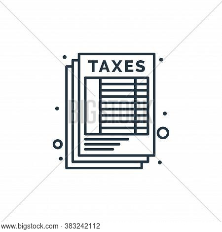sheet icon isolated on white background from taxes collection. sheet icon trendy and modern sheet sy