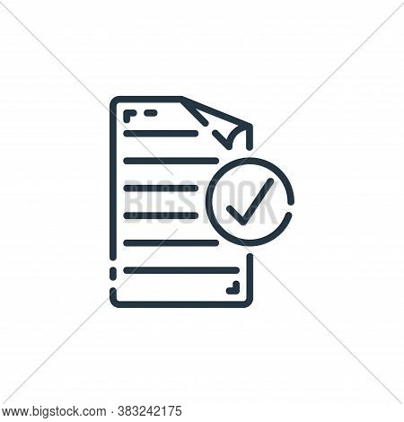 checked icon isolated on white background from documents collection. checked icon trendy and modern
